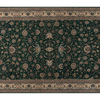 """Stark, 6'x9'1"""" Claire Rug, Forest Green/Tan, Area Rugs"""