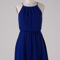 Navy Halter Dress