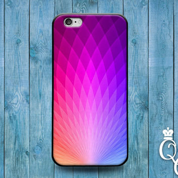 iPhone 4 4s 5 5s 5c 6 6s plus + iPod Touch 4th 5th 6th Gen Blue Pink Purple Hexagon Collage Artistic Cover Fun Cute Pretty Modern Phone Case