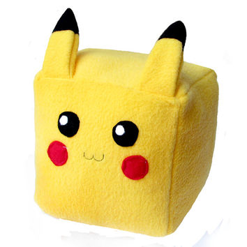 Pokemon Pikachu Pikacube Cube Plushie Stuffed Animal kawaii cute square