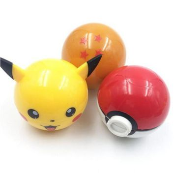 Herb Grinder Dragon Ball Tobacco  Grinder Pikachu Pokeball ette AccessariesKawaii Pokemon go  AT_89_9