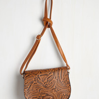 Who's the Emboss? Bag in Cognac | Mod Retro Vintage Bags | ModCloth.com