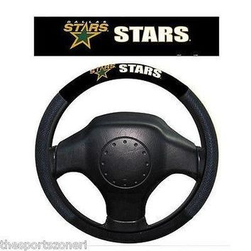 Dallas Stars Poly/Mesh Steering Wheel Cover