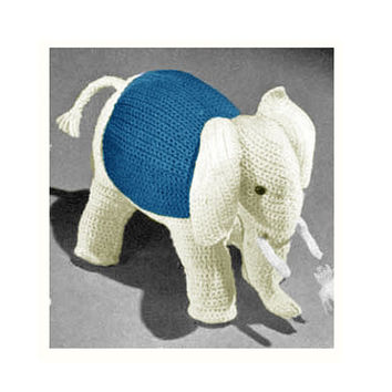 Crochet TOY Pattern Vintage 70s Crochet Elephant Toy Pattern Stuffed Animal Crochet Personalized Toy Pattern