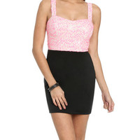 Sequin Bustier 2fer Dress | Shop Dresses at Wet Seal