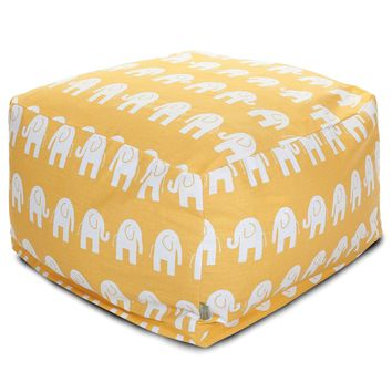Yellow Ellie Large Ottoman