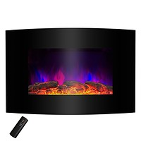 Wall Mounted Electric Fireplace Space Heater with Remote 5,200 BTU