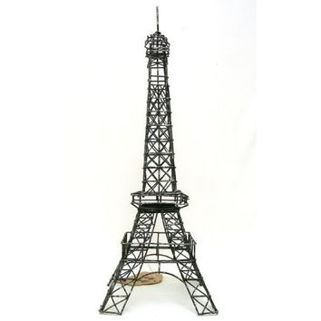 "Eiffel Tower Paris, France, 14"" Black Metal Wire Statue M14 Decor, Gifts ~ French Eiffel Tower Replica, Centerpiece, Room Décor, Jewelry Stand, Tea Candle Holder."