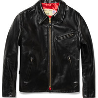 Schott Zipped Leather Jacket | MR PORTER