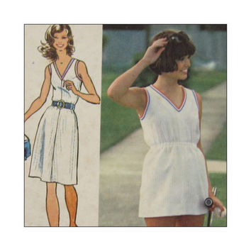 Uncut Vintage Super Jiffy  Sewing Pattern Misses Dress or Tennis Dress and Panties Simplicity 5645 Size 16