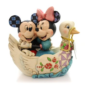 Jim Shore LOVEBIRDS Polyresin Mickey Minnie Swan 4059744