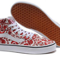 Fashion All-match Casual Unisex Floral Lover Multicolor Pattern Sneakers Shoes