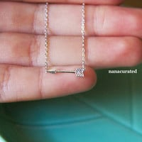 Tiny Silver Arrow Necklace, Tiny Charm Necklace, Dainty Charm Necklace, Necklaces, Hipster Necklace, Charms, Holiday Gifts, Gift Ideas