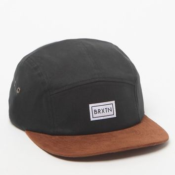 Brixton Hendrick 5 Panel Hat - Mens Backpack - Black - One