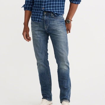 Mens Slim Straight Jeans | Mens Bottoms | Abercrombie.com