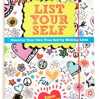 Girl's 'List Yourself: Discover Your Own True Self by Making Lists' Journal