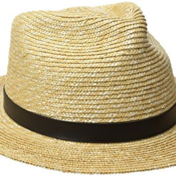 Goorin Bros. Women's Gracie Wide Brim Wheat Straw Hat, Natural, Medium