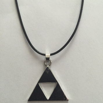 Legend of Zelda necklace Triforce silver color pendant cosplay jewelry for men and women