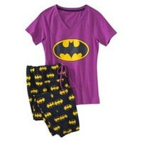 Batman® Juniors Knit Pajama Set - Purple/Black