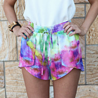 COSMIC TIE DYE SHORTS , DRESSES, TOPS, BOTTOMS, JACKETS & JUMPERS, ACCESSORIES, $10 SPRING SALE, PRE ORDER, NEW ARRIVALS, PLAYSUIT, GIFT VOUCHER, $30 AND UNDER SALE,,SHORTS Australia, Queensland, Brisbane