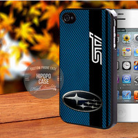 Subaru STI on a field of simulated Blue case for iPhone 5/5s/5c/4/4s/6/6+,iPod 4th 5th,Samsung Galaxy S3/S4/S5,Note 2/3,HTC One,LG Nexus