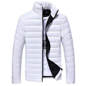 The North Of Boys Winter Mens Coats And Jackets Warm Stand Collar Slim Zip Coat Outwear Motorcycle Hip Hop Jacket Face