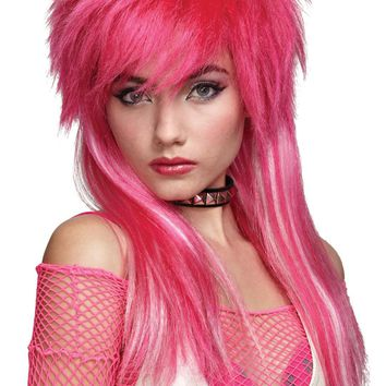 Hot Pink White Glam Wig for 2017