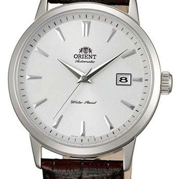 Orient Symphony Automatic Dress Watch with White Dial, Stainless Steel Case #ER27007W