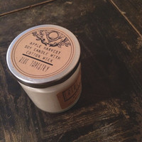 UNSCENTED soy candle : 7 oz, organic, eco-friendly, cotton wick, dye-free