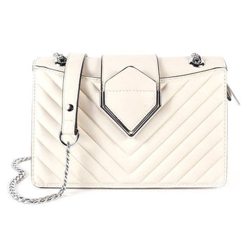Ivory chevron purse