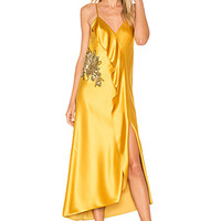 Mestiza New York Natalia Ruffle Midi Dress in Dandelion | REVOLVE