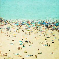 Coney Island Beach Art Print by Mina Georgescu | Society6