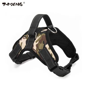 T-MENG Pet Products Medium Large Dog Harness Vest Reflective Breathable And Comfortable Mesh Pet Dog Leash Small Dog Harness K9