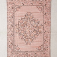 Stina Floral Space Dyed Printed Rug | Urban Outfitters