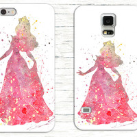 Disney's Princess Aurora Watercolor Phone Case, Disney iPhone Case