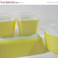PYREX Verde Green Refrigerator Dishes Refrigerator Boxes and Casserole - (#500.102)