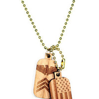 Chain Necklace   Dog Tags (Cherry)