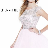 Embellished Pleated Babydoll by Sherri Hill
