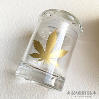 Glass Jar - Gold Leaf