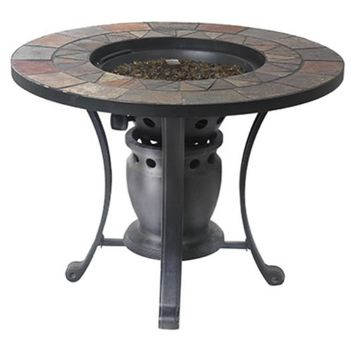 """Four Seasons Courtyard SRGF21203 Gas Fire Pit Table, 28"""""""