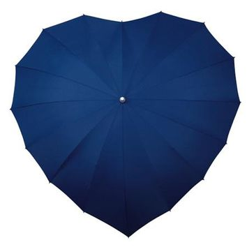 Navy Heart Umbrella