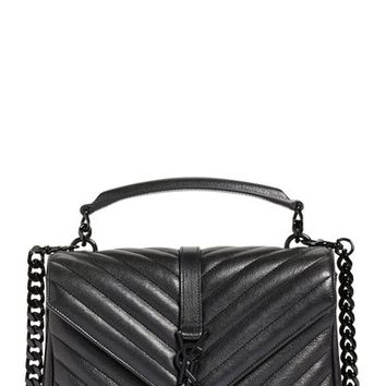 Saint Laurent 'Medium College' Quilted Leather Shoulder Bag | Nordstrom
