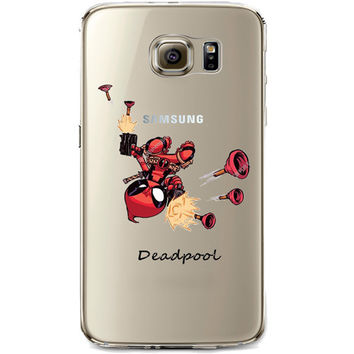 Deadpool Jelly Clear Case for Samsung Galaxy S7 Edge