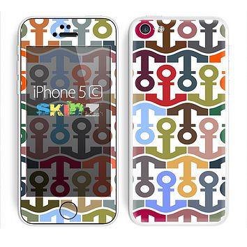 The Color Vector Anchor Collage Skin for the Apple iPhone 5c