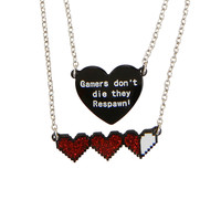 Blackheart Gamers Don't Die Layer Necklace
