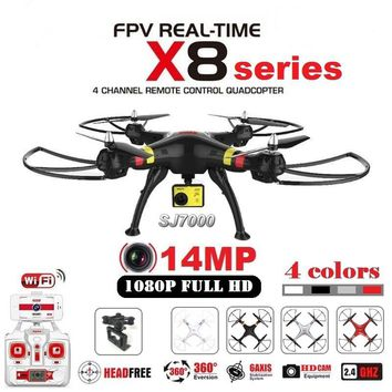 Original SYMA X8G X8C X8W X8HG RC Drone With SJ7000 14MP 1080p Full HD WiFi Camera 2.4G 4CH FPV Quadcopter Professional Drone