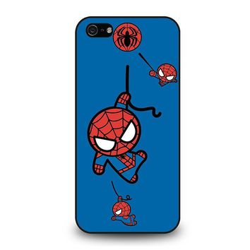 spiderman kawaii marvel avengers iphone 5 5s se case cover  number 1