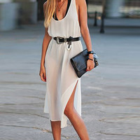 Backless Chiffon Dress