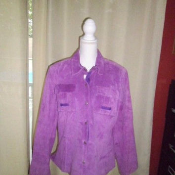 WOMAN'S TERRY LEWIS CLASSIC LUXURIES PLUS SIZE L;100% LEATHER;FEELS LIKE SUEDE