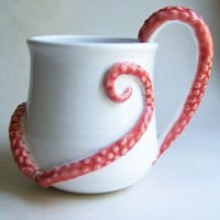 Tentacle Coffee Mug with ExtraTentacles MADE TO by wildcardpottery